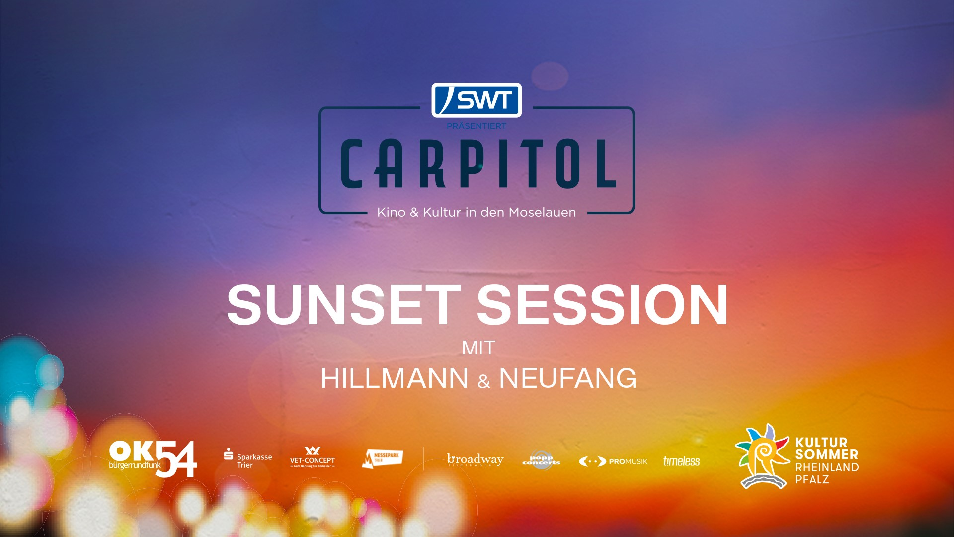 You are currently viewing Sonntag: CARPITOL – SUNSET SESSION mit HILLMANN & NEUFANG (LIVE)