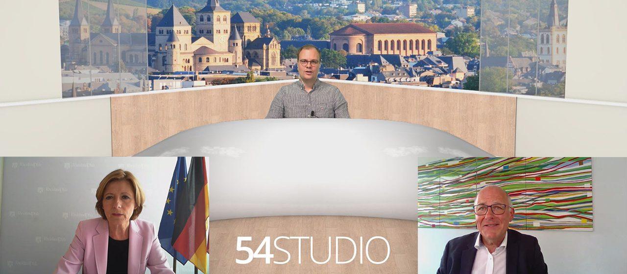 You are currently viewing 54STUDIO mit Malu Dreyer und Albrecht Bähr