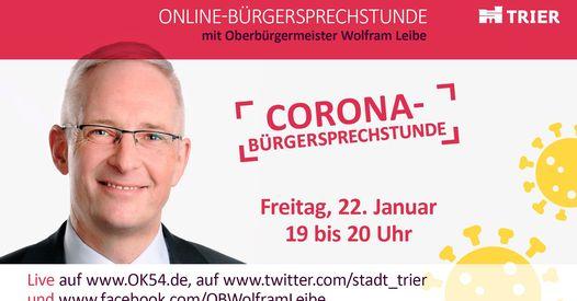 Read more about the article Wie geht es weiter 2021: Triers Oberbürgermeister bietet wieder digitale Sprechstunde bei OK54 an