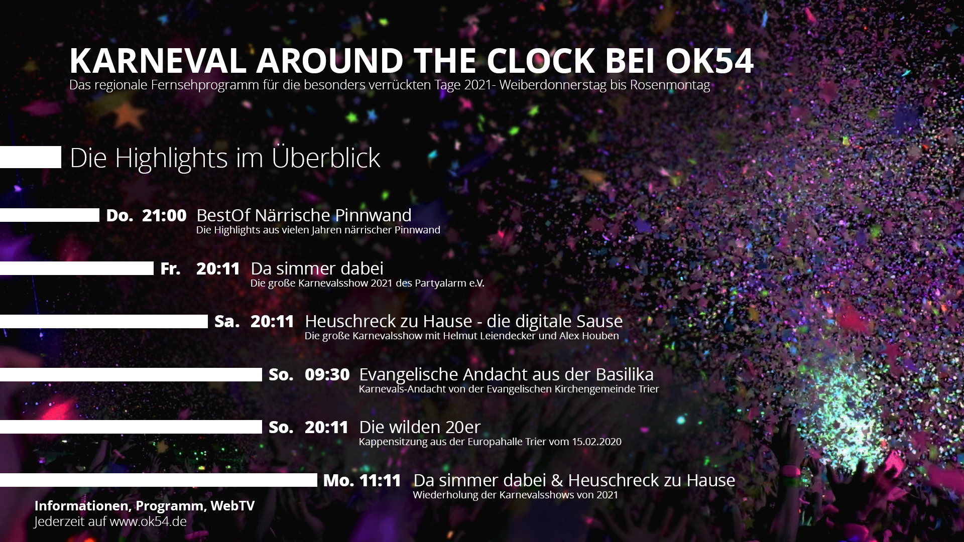 You are currently viewing Karnevalsprogramm bei OK54