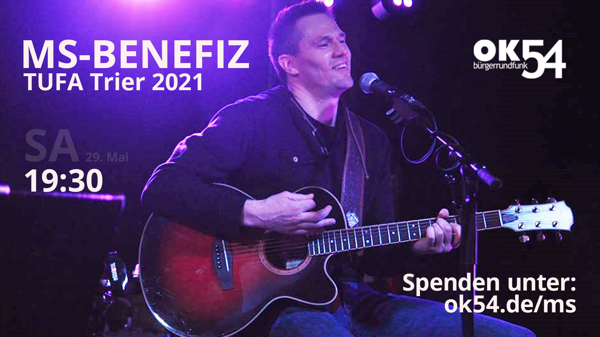 Read more about the article MS Benefiz 2021 am Samstagabend exklusiv bei OK54