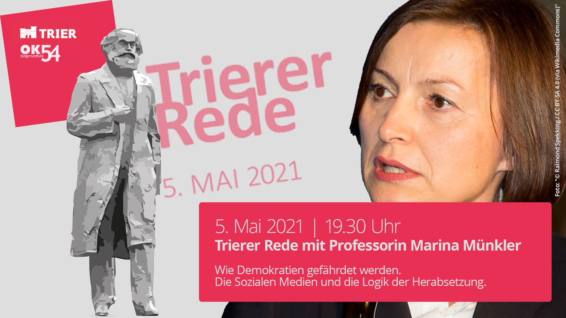 Read more about the article 5. Mai: Trierer Rede 2021 mit Professorin Marina Münkler